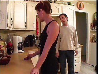 Shagging best friend's mom in kitchen