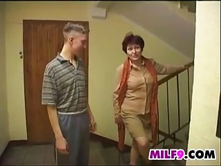Superannuated Mom In A Threesome With Two Pubescent Guys