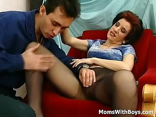 Old Horny Mama Fucked In Tight Pantyhose