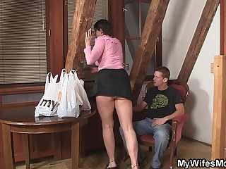 Horny mother in law plastic me into sex