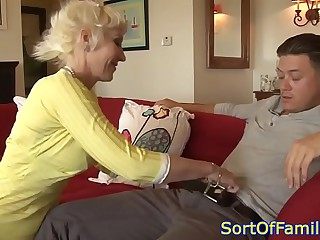 Bigtitted mother in fake anally pounded by guy