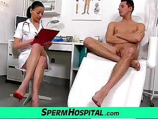 Czech milf falsify Renate dam with boy convalescent home sperm extraction