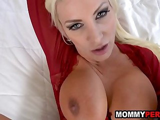 Hot mommy impregnated hard by step son