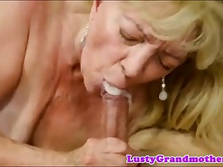 cum mouth granny compilation