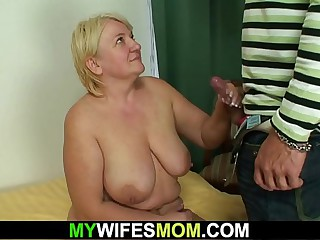 Prohibition sex with busty old mother-in-law