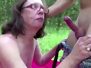 Old bean Seduce 71yr old Granny to Fuck her Anal Outdoor