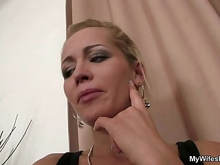 Daughter watches hubby fuck say no to old mom