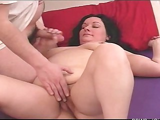 BBW Mom Jerks Off Little one
