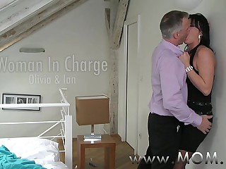 MOM Grown up MILF takes charge of her man