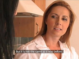 Matriarch Busty wives try lesbian sex