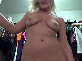 American older mother mary with staggering body