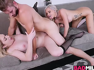Zoe parker rides their way boyfriends giant dong with astrid star guiding their way