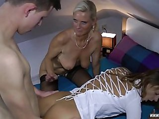 This cute Moms want to have fun with young Boy