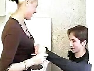 Blonde Russian Mom an Son going at it everlasting