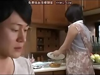 Japanese mom and Son about bathroom